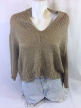 Gap Women Brown Blouse Long Sleeve Size S Made In China 38#18 - $14.03