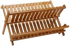 "Lipper International 8813 Bamboo Wood Folding Dishrack, 17-3/4"" x 13"" x ... - $19.47"
