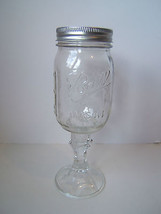Ball Mason Jar Wine Glass with lid Redneck Hillbilly Champagne  - $7.67