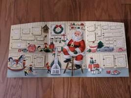 Vintage Hallmark Santa's Work Shop Christmas Advent Calendar Santa Claus  - $18.69