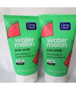 Lot Of 2 Clean & Clear Juicy Watermelon Face Scrub 4.2 oz (New) UNUSED - $12.86