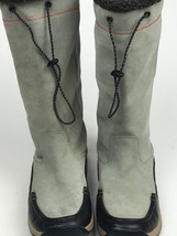 Lands End Calf High Suede Leather Rubber Sole Sherpa Lined Winter Boots ... - $37.09
