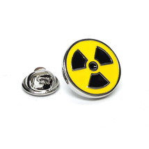 Toxic Radioactive sign tie pin,lapel pin, badge in gift box, cards, tieclip, tie