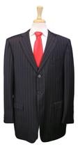 * ERMENEGILDO ZEGNA * Very Recent Black Striped Trofeo Wool 3-Btn Suit 44L - $245.00
