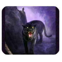 Mouse Pad Black Panthers In Blue Design Wild Animal Editions For Game Anime - $9.00