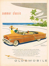Vintage 1953 Magazine Ad Oldsmobile Summer Classic Ninety-Eight Convertible - $5.93