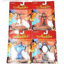 1992 Mattel Disney's Aladdin Jafar Genie PVC Figures Lot of 4  - $44.88