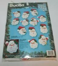 BUCILLA Jolly Santa Christmas Ornaments Kit 83204 set of 12 - $26.01