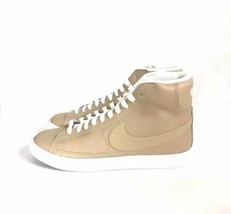 Nike Blazer Sneakers Size 7 Youth Women's Size 8.5 Tan and White 895850-... - $57.23