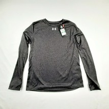 Under Armour Loose Boys Long Sleeve Athletic T-shirt Size YLG Dark Gray QF4 - $17.32
