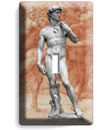 MICHELANGELO DAVID NAKED SCULPTURE SINGLE LIGHT SWITCH WALL PLATE NEW ART COVER - $7.99