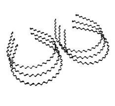 Beauty Hair, Unisex Black Spring Metal Hoop Hair Band Head Accessory (6 ... - $11.34