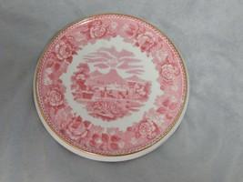 Antique Wedgwood Pink Floral Round Trivet (Brown Vase Mark) - $34.65
