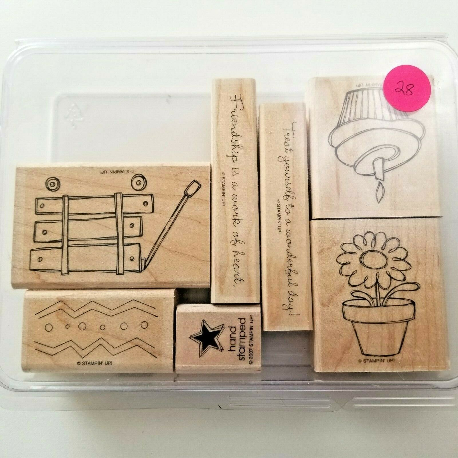 Primary image for Stampin Up Happy Heart Day Stamp Set EUC 7 Stamps
