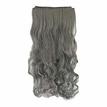 """Granny Grey - One-piece Curly Clip-on Hairpieces 5 Clips 20"""" - $20.60"""
