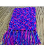 Winter Scarf With Fringe, Gift, Fashion, Accessories, Handmade, Crochet - $40.00