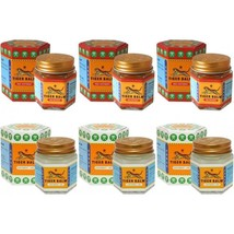 Genuine Tiger Balm Pack Of Six - Three Red 30g + Three White 30g *Tracked Post* - $35.43