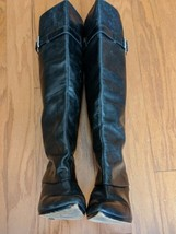 Michael Kors Black All Leather Over The Knee Fashion Riding Boots Size 8 M - £37.52 GBP