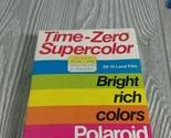 NOS Vtg 1990 Polaroid Time Zero Super Color SX-70 Land Camera Film 10 Pack New