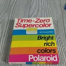 NOS Vtg 1990 Polaroid Time Zero Super Color SX-70 Land Camera Film 10 Pack New - $28.04