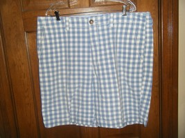 American Eagle Outfitters Live Your Life Blue & White Check Shorts - Siz... - $15.98