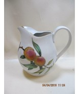 Royal Worcester Evesham  lemonade juice milk PITCHER with ice lip gold trim - $37.62