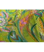 Sheer Georgette Crepe Floral Pattern Fabric Japan - $36.00