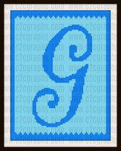 Letter G Kids Toddler Blanket C2C Crochet Graph Pattern Written Words - $5.50