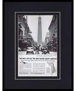 1960 Panagra Pan American / South America Framed 11x14 ORIGINAL Advertis... - $41.71