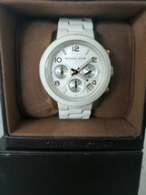 Michael Kors MK5145 Wrist Watch for Women in White *Pre-Owned* Slightly Used - $99.00