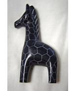 Miniature Ceramic African Inspired Giraffe Black and White - $9.99