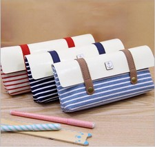 Pencil Case Wearproof Striped Pencil Bag School Stationery For Students Bag - $11.15+