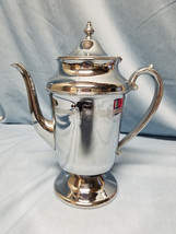 LB LONDON & BRIGHTON PLATING LTD CHROMIUM PLATED COFFEE / TEA POT SERVER  - $27.74
