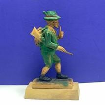 Black Forest Germany figurine hand carved hunter huntsman rifle smoking ... - $94.05