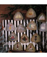 1998 Tole Decorative Painting Fiddlestix 12 Days of Christmas Ornaments ... - $13.50