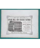1853 PRINT: Constantinople St Sophia & AD: Duquesne Steam Mill & Cracker... - $25.20