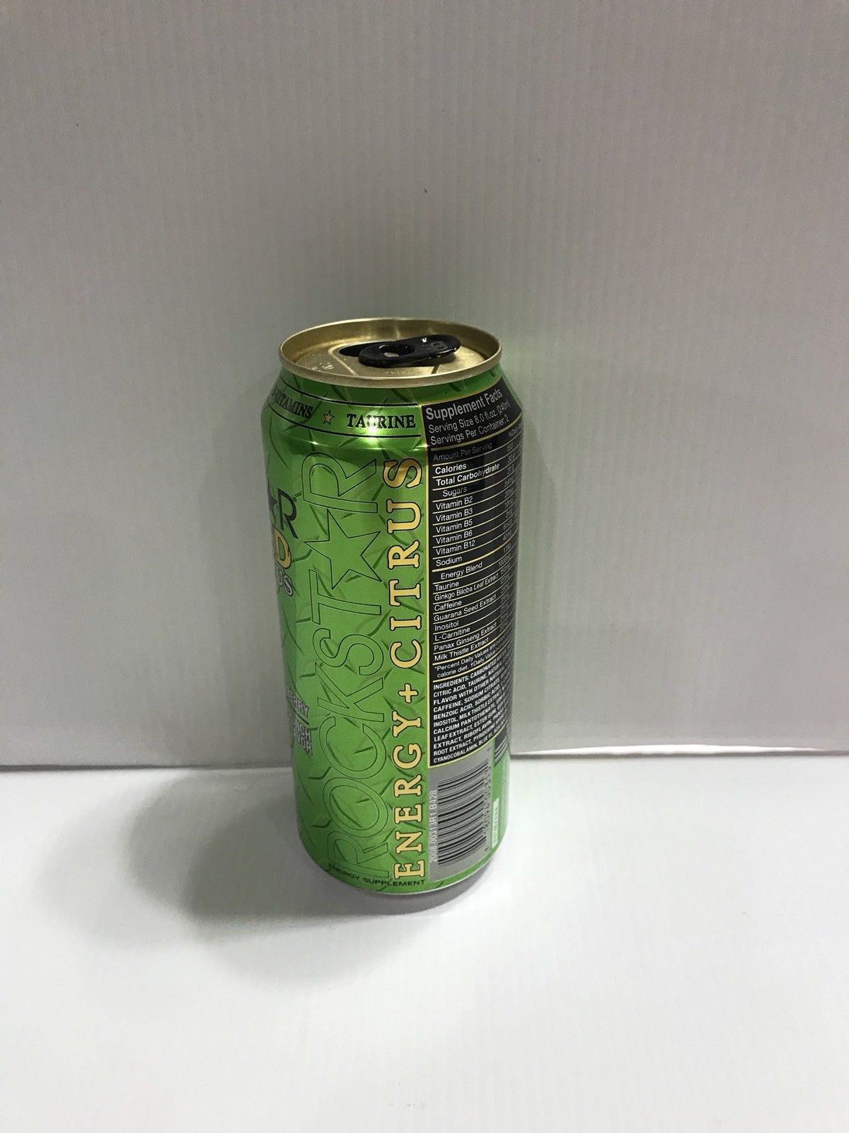 Rockstar Energy Drink Punched Açaí Berry 16oz *EMPTY* Collectors Can.