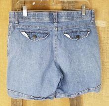 Lee women 8 high waist short jeans pants blue image 4