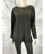 MICHAEL Michael Kors Black/Gold Metallic Lightweight Tunic Sweater NWT M - $16.13