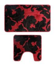 Soft and Durable 2 Pieces Bathroom Bath Rug Pedestal Mat Set Contour & B... - $21.95