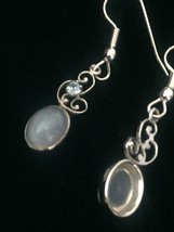 Vintage 50s Van Dell Opalite/Rhinestone Oval Brooch/pendant and Earrings Set image 7