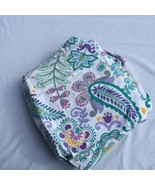 Paisley Floral Full Queen Duvet Cover Pottery Barn Teen Green Purple  - $48.37