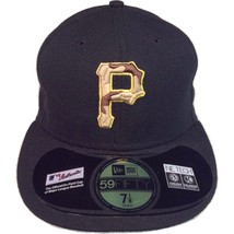 Pittsburgh Pirates New Era 59Fifty Memorial Day Black Camo 7 1/8 Fitted Cap Hat - $28.00