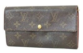 Authentic LOUIS VUITTON Sarah Long Wallet Monogram Zippered Coin Purse #... - $135.00
