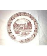 2 Red & White Transferware Small Plates Camilla Spode & Montcello Staffo... - $24.99