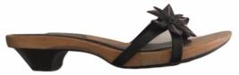 Kenneth Cole reaction women's Wooden Kitten Clog heels size 7.5 black Flower - $31.67