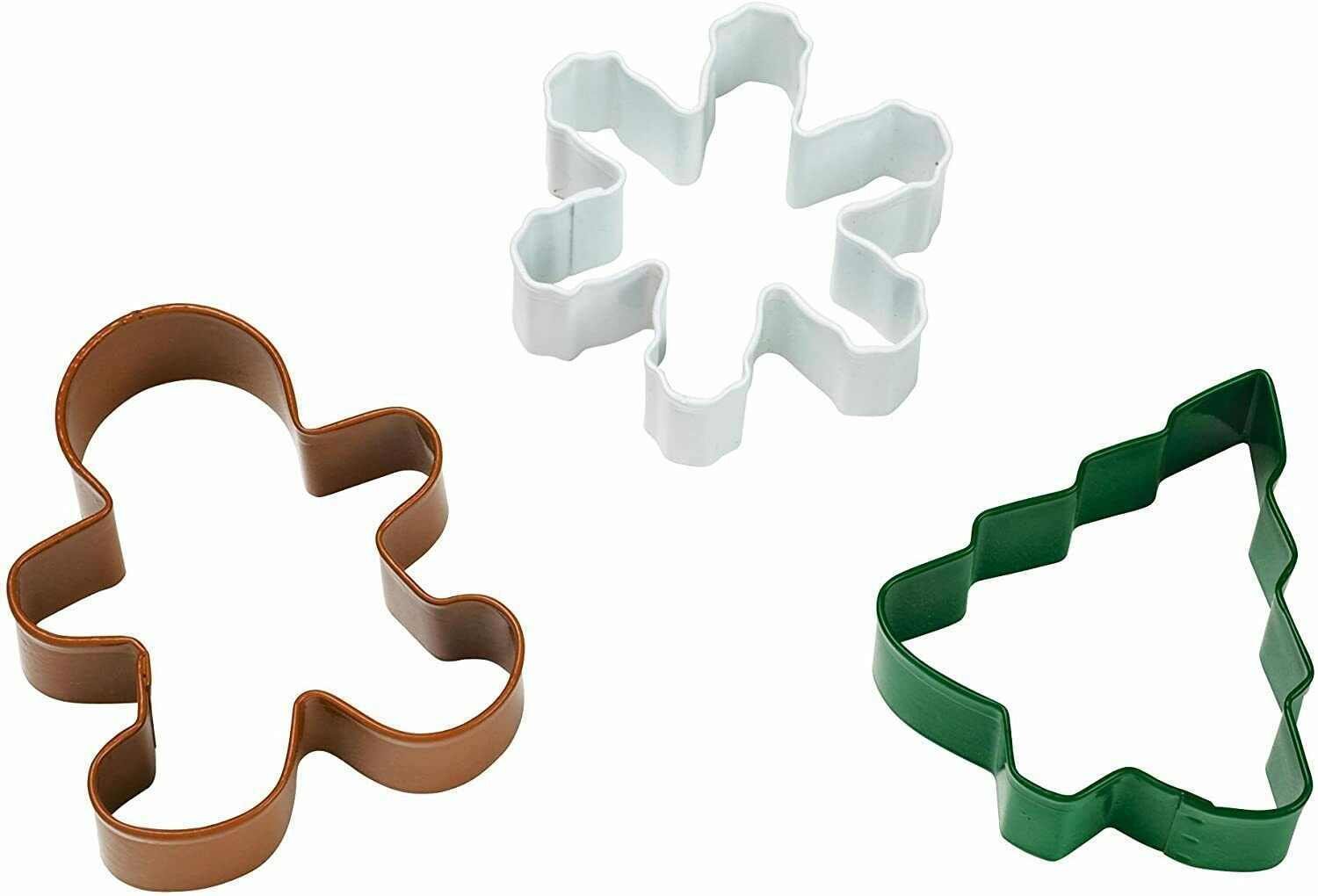 Wilton Cookie Cutter Set 2308-1266 Christmas Shapes Tree Snowflake Gingerbread - $8.60