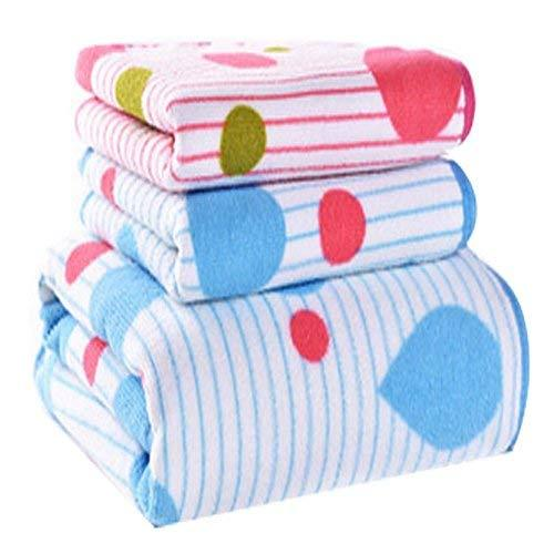 Primary image for Panda Superstore Drop Pattern Strong Absorbent Bath Towels Linen Sets(Multicolor