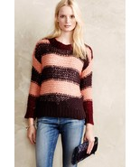 NWT ANTHROPOLOGIE BLUSH STRIPE PULLOVER SWEATER by LILI'S CLOSET XS - $48.01