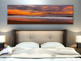 Single panel Art Canvas Print Nature beach tro... - $54.99 - $94.99